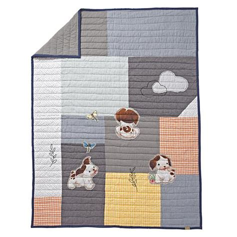 The Poky Puppy And The Patchwork Blanket - poky puppy quilt the land of nod