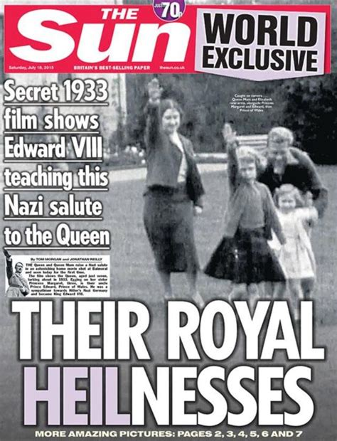 film of queen giving nazi salute queen elizabeth ii caught giving nazi salute the