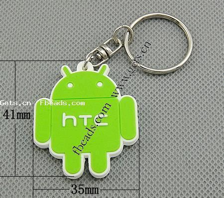 Robot Iron 3 Diskon silicone key chain with iron ring robot green gets