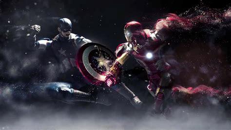 captain america  iron man  wallpaper desktophut