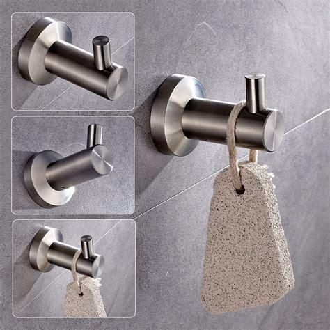 Stainless Steel Bathroom Hooks Stainless Steel Wall Hooks Door Bathroom Towel Hanger Clothes Hook Alex Nld
