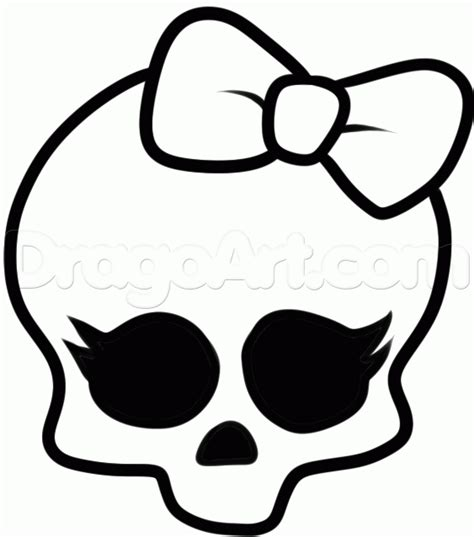 monster high skullette coloring pages how to draw monster high step by step characters pop