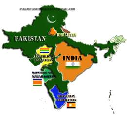 India Pakistan Map by Ennapadam Panchajanya