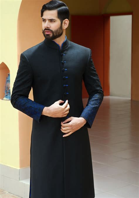 Simple Elegant Mens Wedding Sherwani Collection By Amir