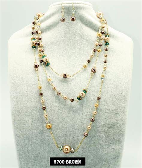 Fina Set set collar y aretes de perla y cristal moda bisuteria fina