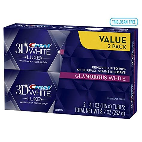 The Luxe 2pcs Pillow Twinpack crest 3d white luxe glamorous white vibrant mint flavor whitening toothpaste pack 8 2 oz