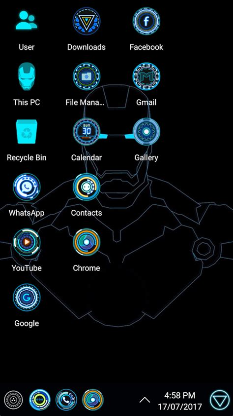 themes arc mobile jarvis arc theme for computer launcher android apps on