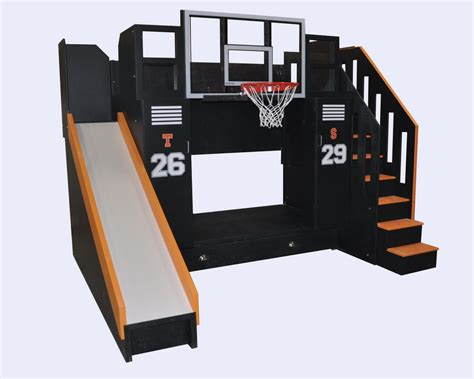 on bunk bed the ultimate basketball bunk bed backboard slide and more
