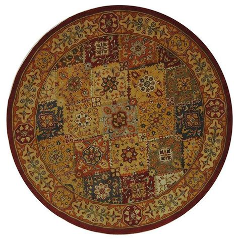 area rugs 8 ft safavieh heritage multi 8 ft x 8 ft area rug hg512a 8r the home depot