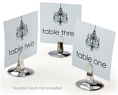 Table Place Card Holders by Dining Table Place Card Holders Silver