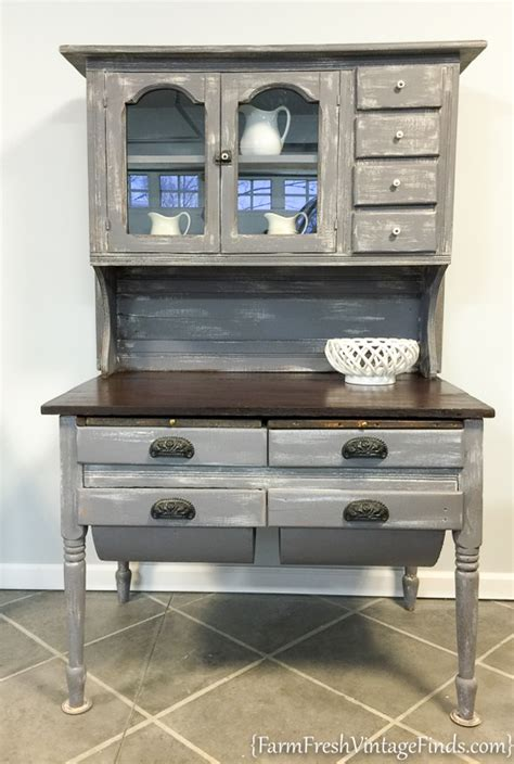 diy chalk paint hutch weathered wood and beadboard painted hutch farm fresh
