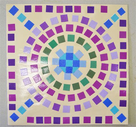 How To Make Mosaic With Paper - paper mosaic porterspaintpalette