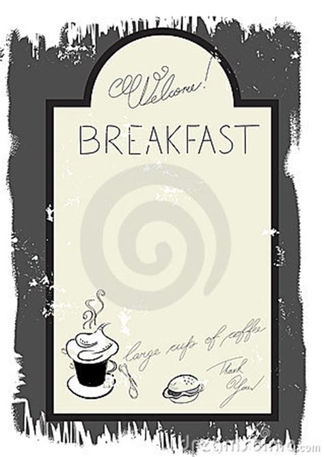 breakfast menu templates free template for breakfast menu royalty free stock photography