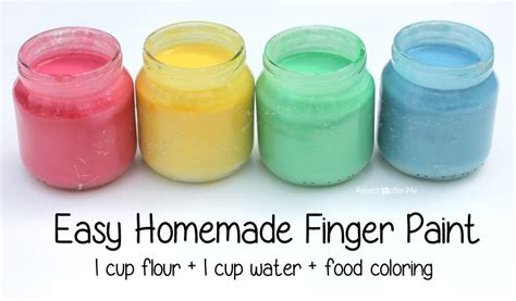 Handmade Paint - repeat crafter me easy finger paints