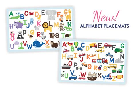 printable alphabet placemat alphabet placemat printable pictures to pin on pinterest