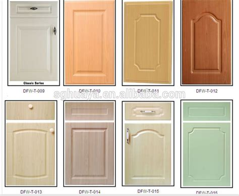 pvc kitchen cabinet doors pvc thermofoil kitchen cabinet door wood grain color buy
