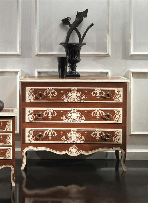 decorative chest of drawers a chest of drawers with a decorative pattern made of solid