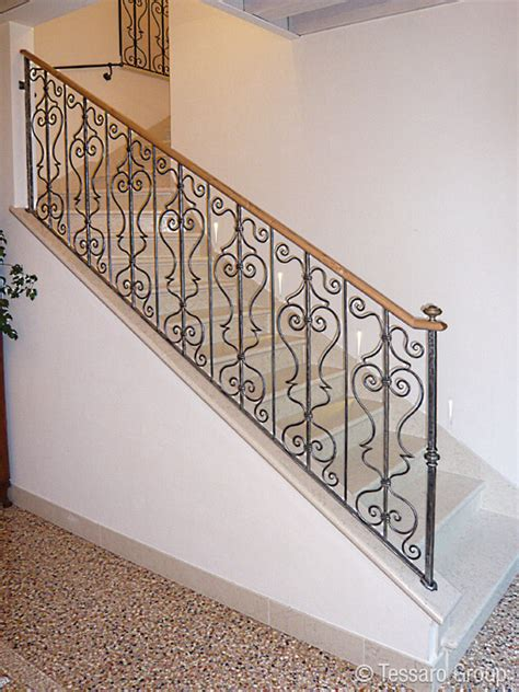 ringhiera scale ferro battuto tessaro ringhiere per scale interne