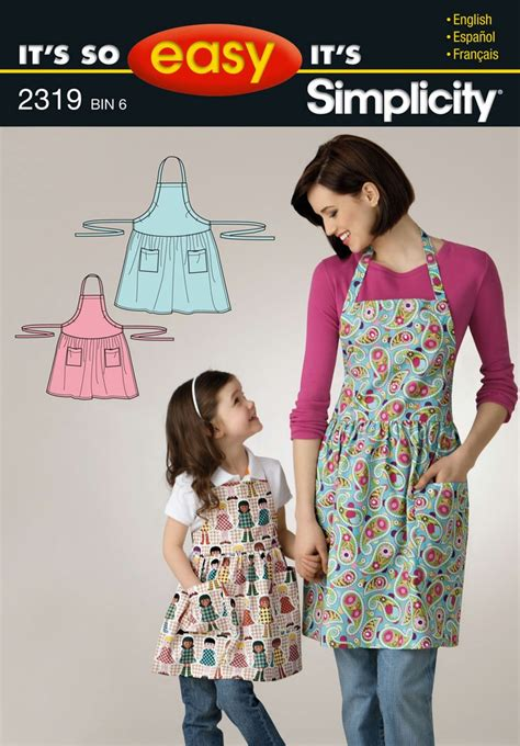 apron pattern simplicity its so easy childs and misses adjustable apron sewing