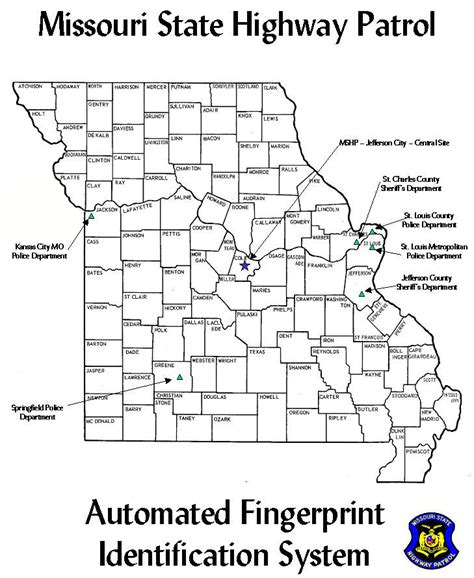Missouri State Highway Patrol Criminal Record Check Afis Map