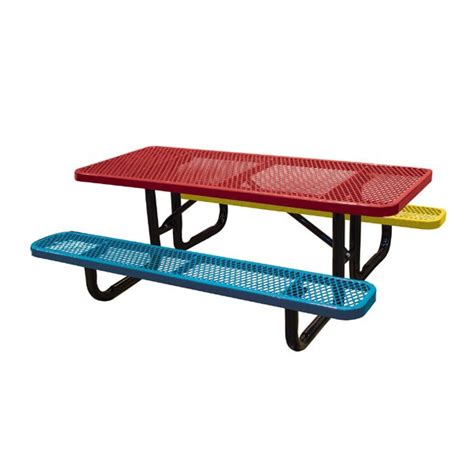 metal picnic tables 6 expanded metal children s picnic tables