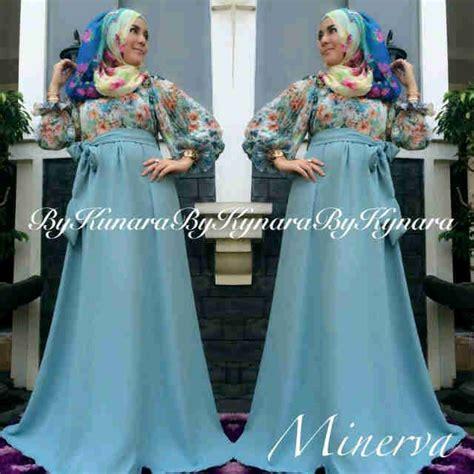 Baju Warna Biru Telor Asin minerva by kynara biru ta baju muslim gamis modern