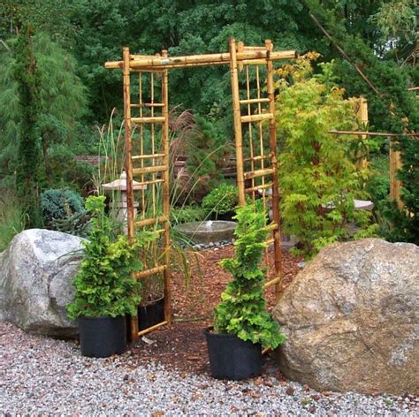 Bamboo Garden Design Ideas Garden Design With Bamboo Pergola