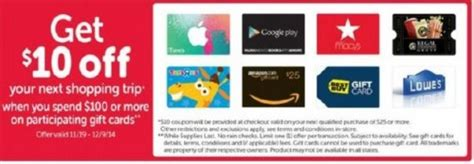 safeway 10 back on 100 gift cards my frugal adventures - Safeway Gift Card Buy Back
