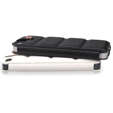kashidun chuan series leather with button efficient protective for iphone 5 5s se white