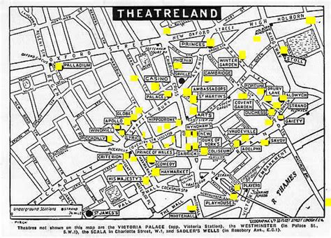 london s theatre district is located in which section of london where is west end london map