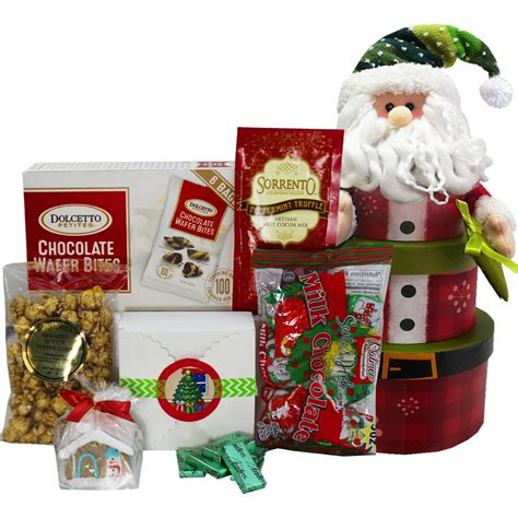 christmas food gift set snowman stacking tower gift box set gourmet snacks and hors