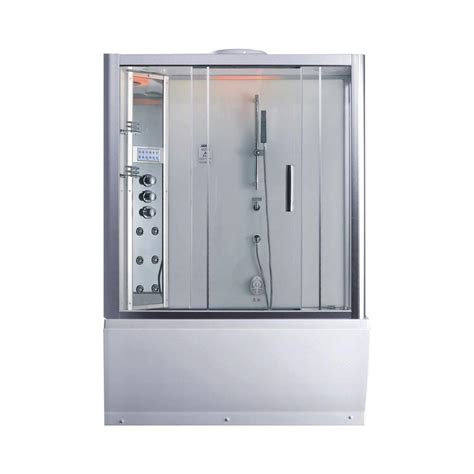 bathtub enclosure kits ariel platinum 59 in x 87 4 in x 32 in steam shower