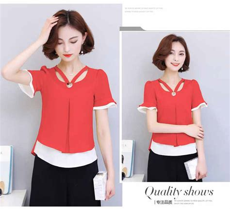 Blouse Merah blouse merah cantik model terbaru murah myrosefashion