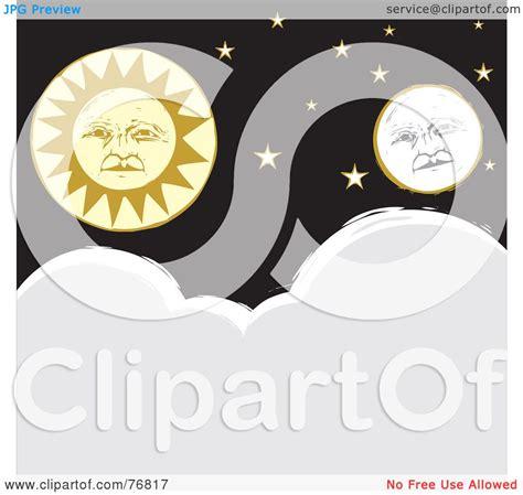 royalty  rf clipart illustration   full moon