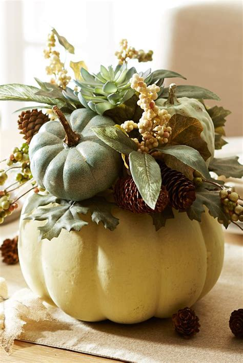 pumpkin floral ideas   fall decorating