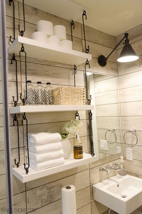 bathroom hanging shelves 31 diy hanging shelves for every room in your home