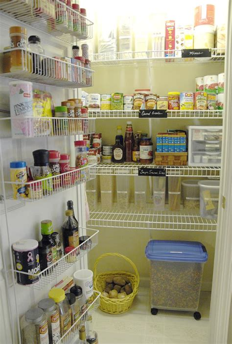 wire rack shelving to maintain cleanliness pantry home