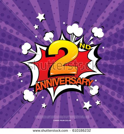 second anniversary stock images royalty free images vectors