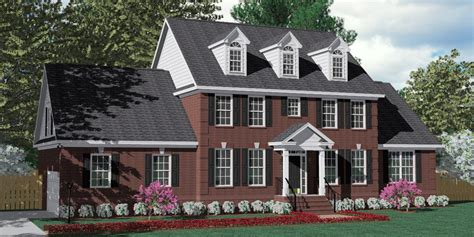 brick colonial house plans house plan 3120 c pendleton c with dormers traditional brick colonial design with