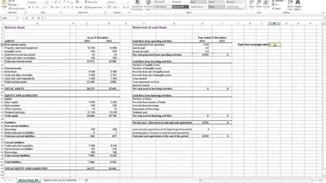 Financial Analysis Spreadsheet by Financial Statement Analysis Spreadsheet