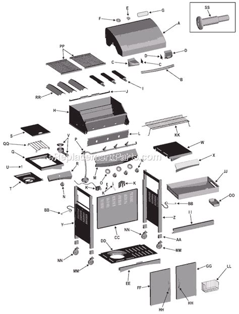 char broil parts diagram char broil 461252605 parts list and diagram
