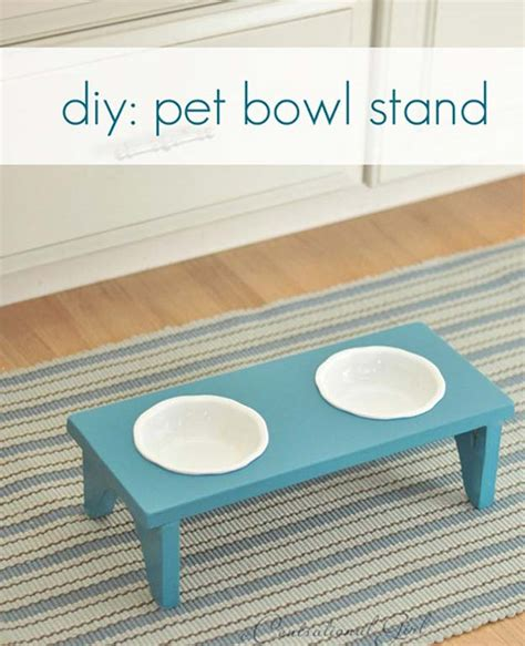 remodelaholic diy dog food bowl stand for small pups 41 crafty diy projects for your pet