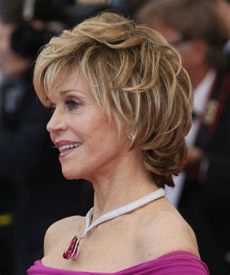 jane fonda hair colo jane fonda short straight formal hairstyle with layered