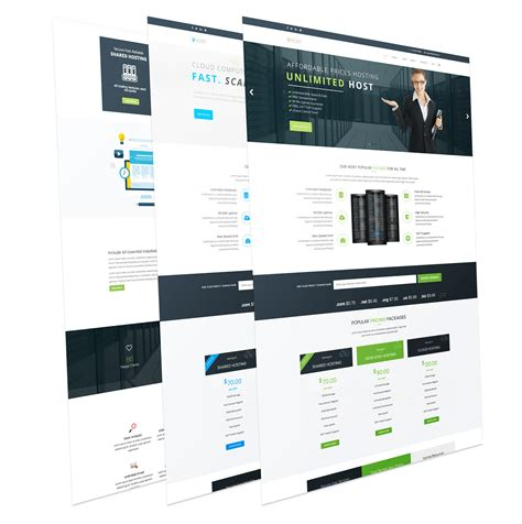 vhost free reponsive joomla hosting template