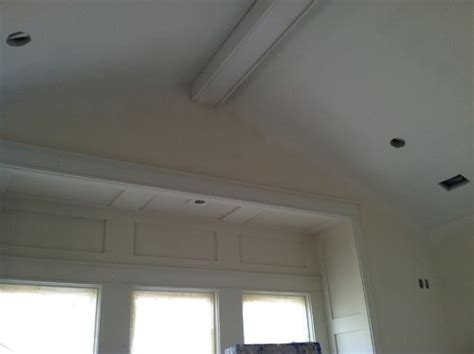 Ceiling Edge Trim Beam In Middle Of Ceiling Does It Need More Trim Help