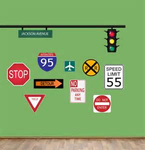 Custom Made Wall Stickers road signs wall decal boys street sign wall decals reusable