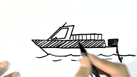 how to draw a boat motor how to draw a motorboat in easy steps for children