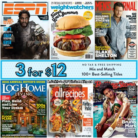 discountmags magazine subscriptions the best deals discount mags sale pick any 3 magazines for 12