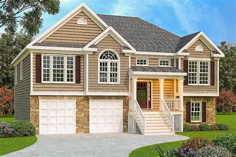 split plan house 3 bed split level house plan 75430gb architectural