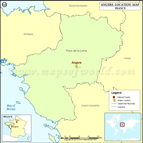 angers map where is angers located in